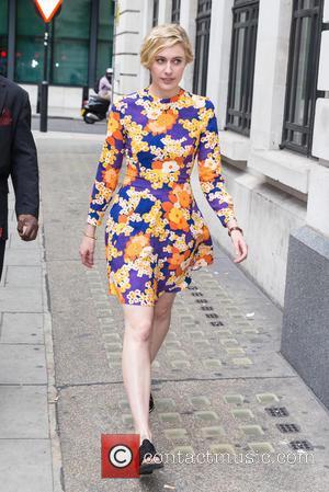 Greta Gerwig - Greta Gerwig pictured arriving the Radio 1 studios at BBC Portland Place - London, United Kingdom -...