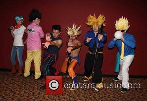 Dragon Ball Z Atmostphere - New York premiere of Dragon Ball Z: Resurrection 'F' at AMC Empire Theater - Red...