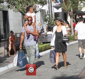 Jaleel White - Jaleel White takes his family shopping at the Grove in Hollywood - Los Angeles, California, United States...