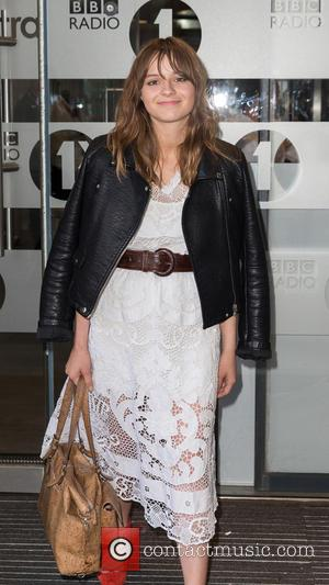Gabrielle Aplin - Gabrielle Aplin pictured arriving at the Radio 1 studios at BBC Portland Place - London, United Kingdom...