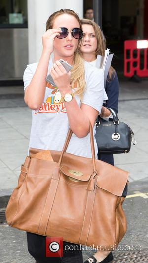Charlotte-Letitia Crosby - Charlotte-Letitia Crosby pictured arriving at the Radio 1 studios at BBC Portland Place - London, United Kingdom...