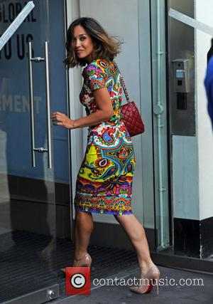 Myleene Klass - Myleene Klass arrives at Global House in a summer dress - London, United Kingdom - Tuesday 4th...