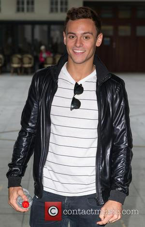 Tom Daley - Tom Daley pictured arriving at the Radio 1 studios to appear as a guest on the Nick...
