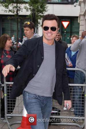 Seth MacFarlane - Seth MacFarlane pictured arriving at the Radio 2 studio at BBC Western House - London, United Kingdom...