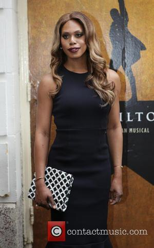 Laverne Cox - Opening night of the Broadway musical Hamilton at the Richard Rodgers Theatre - Arrivals. at Richard Rogers...