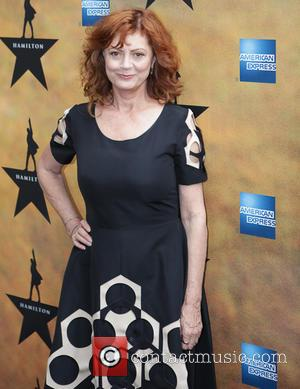 Susan Sarandon - Opening night of the Broadway musical Hamilton at the Richard Rodgers Theatre - Arrivals. at Richard Rogers...