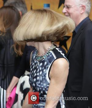 Anna Wintour - Opening night of the Broadway musical Hamilton at the Richard Rodgers Theatre - Arrivals. at Richard Rogers...