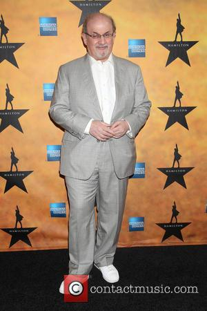 Salman Rushdie - Opening night of the Broadway musical Hamilton at the Richard Rodgers Theatre - Arrivals. at Richard Rodgers...