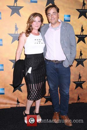 Ana Gasteyer , Charlie McKittrick - Opening night of the Broadway musical 'Hamilton' held at the Richard Rodgers Theatre -...