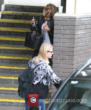 Sarah Harding - Sarah Harding appears upset as she leaves the ITV studios - London, United Kingdom - Thursday 6th...