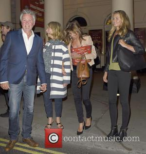 Paul Young - Paul Young leaving the Haymarket Theatre after watching 'The Elephant Man' with his family - London, United...