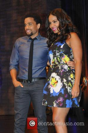Sanaa Lathan , Michael Ealy - Cast of 'The Perfect Guy' attend a Q & A panel as part of...