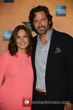 Mariska Hargitay , Peter Hermann - Broadway musical 'Hamilton' at Chelsea Piers - After Party at Chelsea Piers - Sagaponack,...