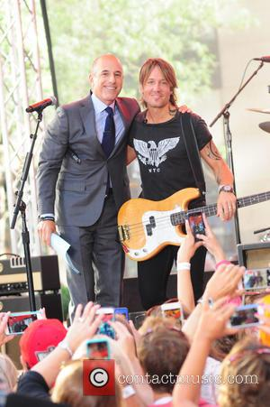 Matt Lauer and Keith Urban