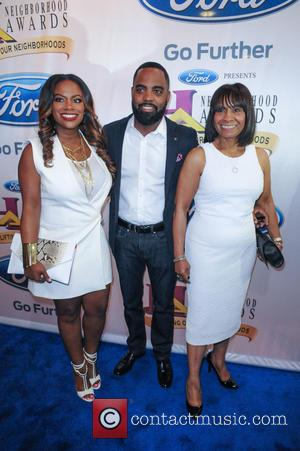 Kandi Burruss, Todd Tucker and Joyce Burruss