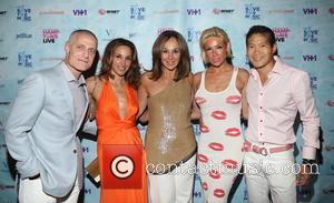 Brett Yormark, Elaina Scotto, Rosanna Scotto, Emily Chu and Lawrence Chu