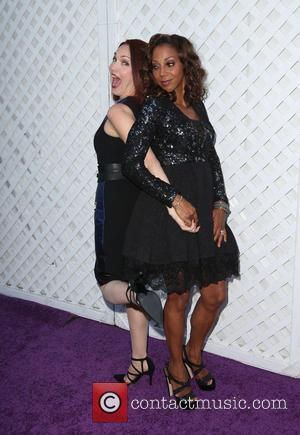 Amy Yasbeck and Holly Robinson Peete