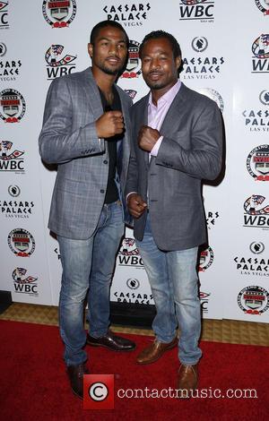 Shane Mosley Jr , Sugar Shane Mosley - Nevada Boxing Hall of Fame 2015 Induction Ceremony at Caesars Palace Las...