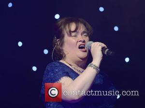 Susan Boyle - Susan Boyle and Merrill Osmond peform a duet at the Hearing Fund UK Gala Evening With Friends...