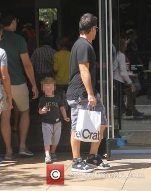 Mike Comrie , Luca Comrie - Mike Comrie shopping at The Grove - Los Angeles, California, United States - Sunday...