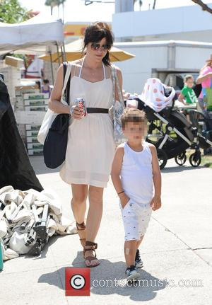Selma Blair , Arthur Bleick - Selma Blair takes her son Arthur to the Farmers Market - Los Angeles, California,...