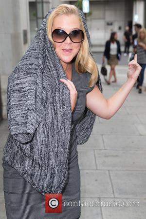 Amy Schumer - Amy Schumer pictured arriving at the Radio 1 studios at BBC Portland Place - London, United Kingdom...