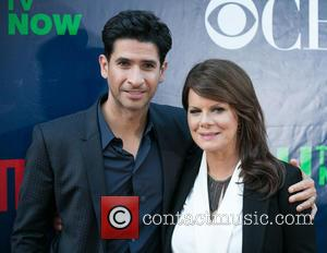 Raza Jaffrey , Marcia Gay Harden - The CBS, The CW, and Showtime 2015 Summer TCA Party at Pacific Design...