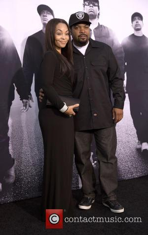 Ice Cube , Kimberly Woodruff - World Premiere of Universal Pictures' 'Straight Outta Compton' held at The Microsoft Theatre -...