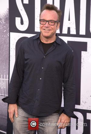 Tom Arnold - World Premiere of Universal Pictures' 'Straight Outta Compton' held at The Microsoft Theatre - Arrivals at Microsoft...