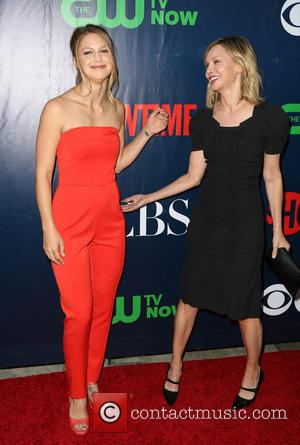 Melissa Benoist , Calista Flockhart - Celebrities attend the CBS, The CW, and Showtime 2015 Summer TCA Party  at...