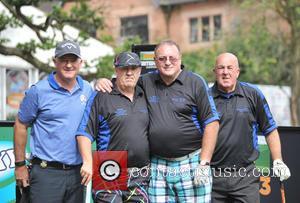 Peter Baker, Roger Hurcombe, Ian Halliwell, Steve Kitt , Team Social Golfer - Farmfoods British Par 3 Championship 2015 held...