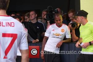 Juan Mata, Daley Blind, Ander Herrera , Ashley Young - Manchester United players at Base Brixton - London, United Kingdom...
