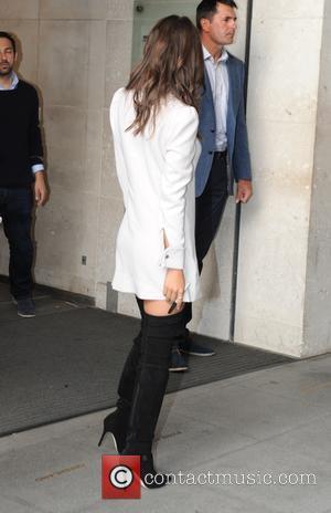 Emily Ratajkowski - Celebrities at the BBC Radio 1 studios - London, United Kingdom - Tuesday 11th August 2015