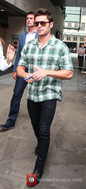 Zac Efron - Zac Efron and Emily Ratajkowski leave Radio 1 at Radio 1 - London, United Kingdom - Tuesday...