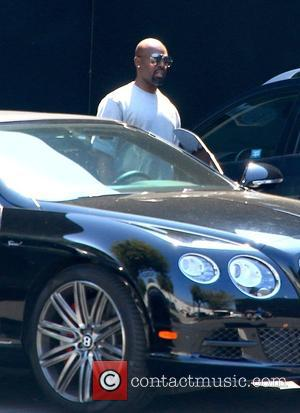 Corey Gamble - Kris Jenner and Corey Gamble leaving West Coast Customs shop in Burbank - Burbank, California, United States...