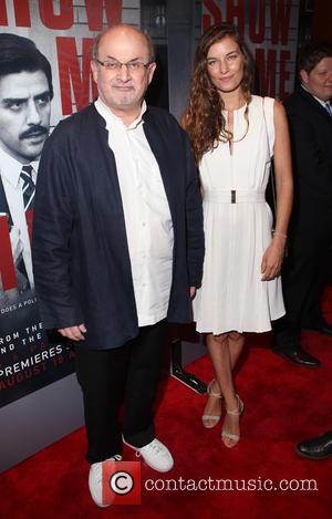 Salman Rushdie , guest - New York premiere of HBO's 'Show Me A Hero' at The New York Times Center...