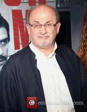 Salman Rushdie - New York premiere of HBO's 'Show Me A Hero' at The New York Times Center - Red...
