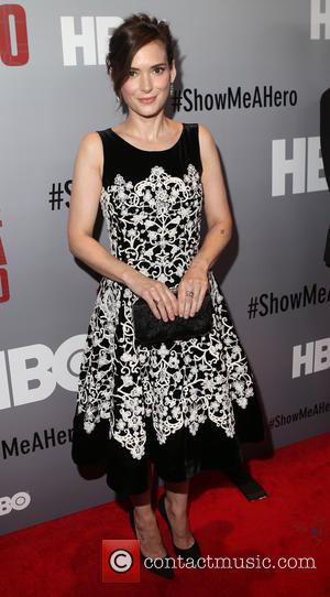 Winona Ryder - New York premiere of HBO's 'Show Me A Hero' at The New York Times Center - Red...