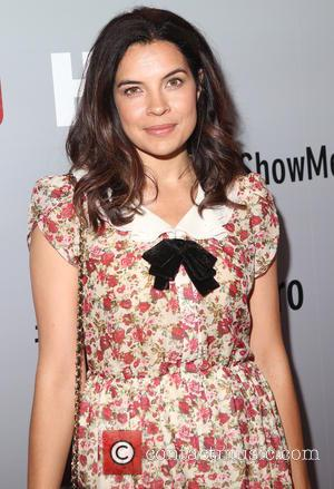 Zuleikha Robinson - New York premiere of HBO's 'Show Me A Hero' at The New York Times Center - Red...