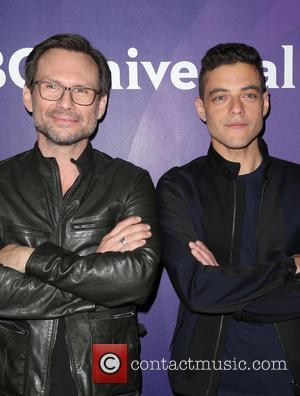 Christian Slater and Rami Malek
