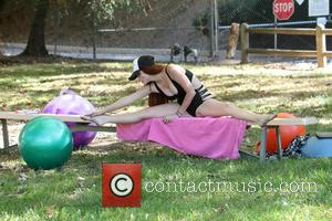 Phoebe Price - Phoebe Price and Frenchy Morgan work out together in a public park - Beverly Hills, California, United...