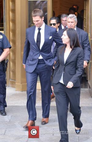 Tom Brady - Tom Brady and Roger Goodell leaving Manhattan court - Manhattan, New York, United States - Wednesday 12th...