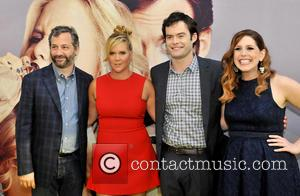 Judd Apatow, Amy Schumer, Bill Hader , Venessa Bayer - Premiere of 'Trainwreck' at The Hague - The Hague, Netherlands...