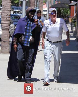James Caan - James Caan wearing blue mirrored sunglasses goes out and about in Beverly Hills running errands followed by...