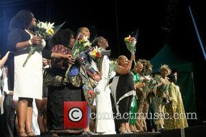 cast - Reunion concert of Broadway musical The Wiz held at the SummerStage in Central Park - Act 2. at...
