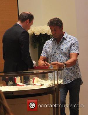 sylvester stallone - Sylvester Stallone goes shopping at Cartier in Beverly Hills at beverly hills - Los Angeles, California, United...
