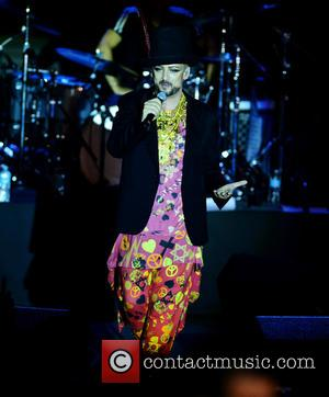 Boy George , Culture Club - Culture Club perform at Bayfront Park amphitheater in Miami at Bayfront Park Amphitheatre -...
