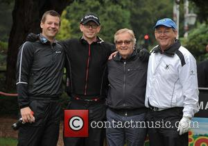 Matthew Hayes, Jack Hayes, William Roache MBE , John Hayes - 2015 Farmfoods British Par 3 Championship held at Nailcote...