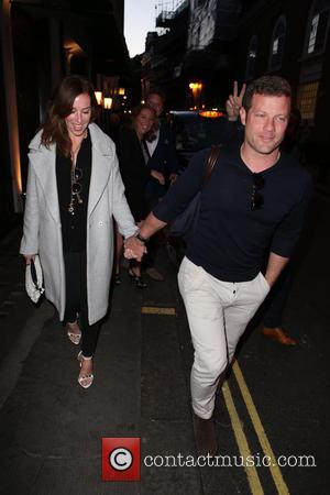 Dermot O'Leary , Dee Koppang - Dermot O'Leary and Dee Koppang head to dinner with friends at West Street -...