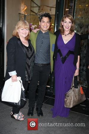 Lesley Nicol, Phyllis Logan , Guest - 'Downton Abbey' wrap party at The Ivy - Arrivals at The Ivy -...